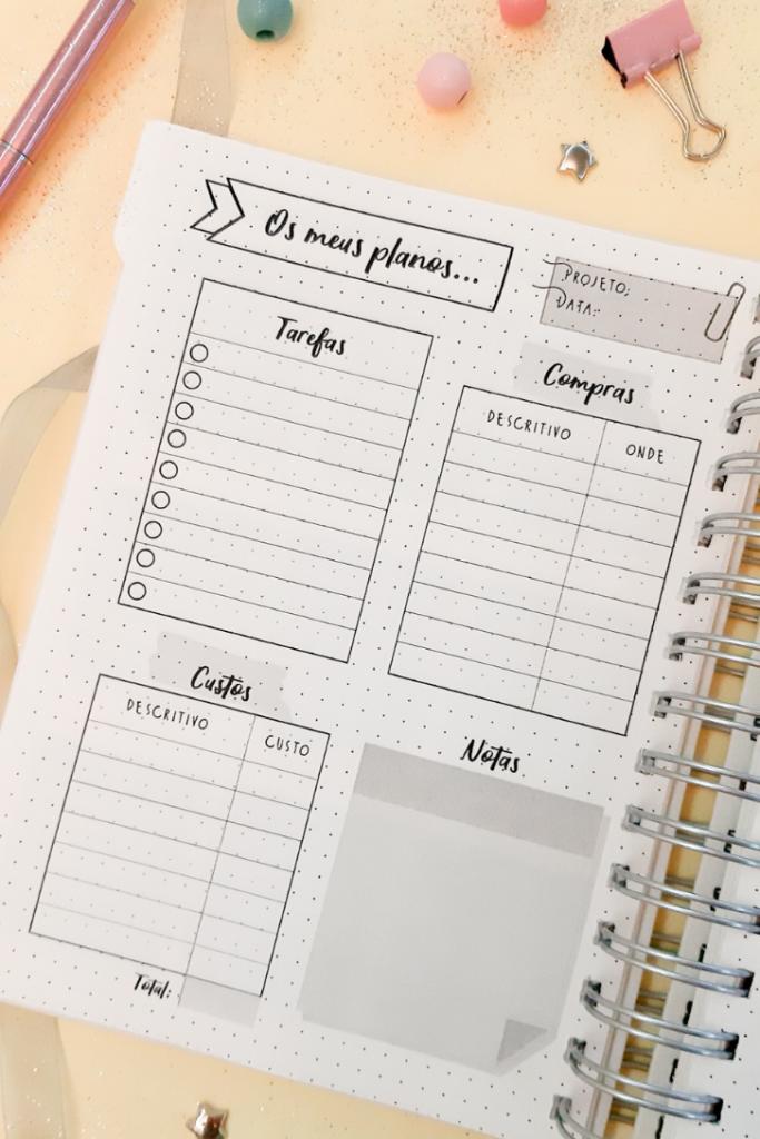 Planos Planner Casa Organizada