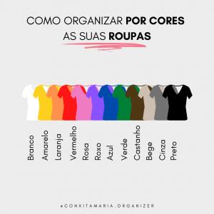 como organizar a roupa por cores